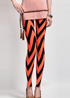 Geometric and Womens Striped Leggings