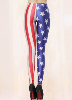 American Star Flag Print Leggings