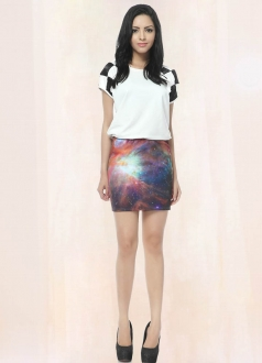 Twilight Galaxy Pencil Skirt