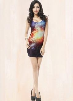Purple Fireball Mysterious Galaxy Dress