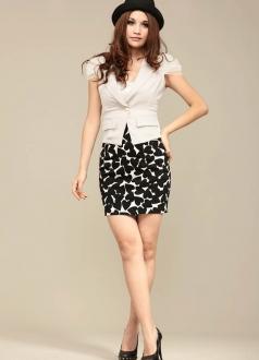 Love Heart Print Pencil Skirt