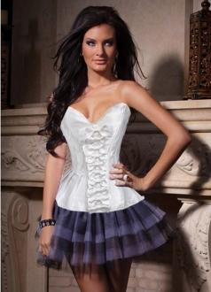 White Strapless Slim Bridal Corset