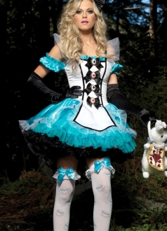 Deluxe Charming Alice Halloween Costume