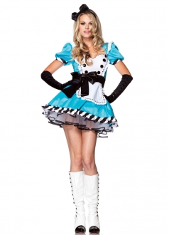 Blue Lolita Sexy Charming Alice in Wonderland Costume