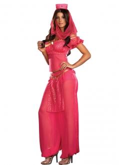 Rose Red India Dancer Costume