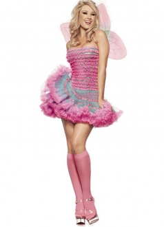 Sexy Rainbow Halloween Fairy Costume