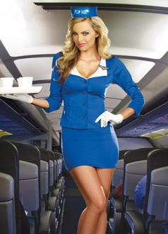 Adult Turndown Air Flight Attendant Stewardess Costume
