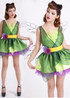 Magic Princess Green Fairy Costume