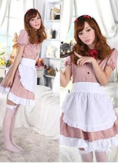 Pink Elegant Maid Costume