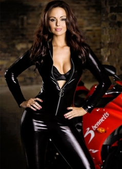 Womens Jennifer Metcalfe Motorbike Jumpsuit Costume Black