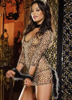 Neck and Wrist Leopard  Cat Costume
