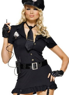 Sexy Dirty Womens Fashion Cop Costume