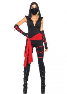 Black Womens Sleeveless Ninja Costume