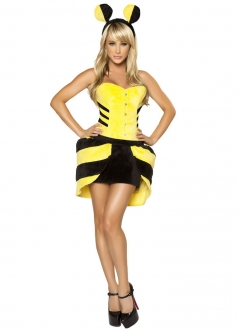 Yellow Gorgeous Bumble Halloween Bee Costume