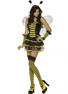 Fancy Bumble Bee Dress Cute Honey Yellow Halloween Costume