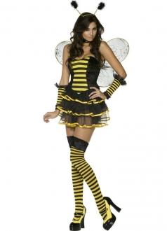 Fancy Bumble Bee Dress Cute Honey Yellow Halloween Costume