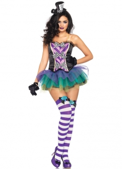 Womens Mad Hatter Halloween Costume Purple