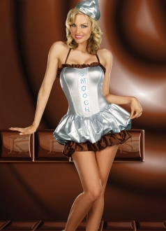 White Corset Liqueur Chocolate Halloween Costume