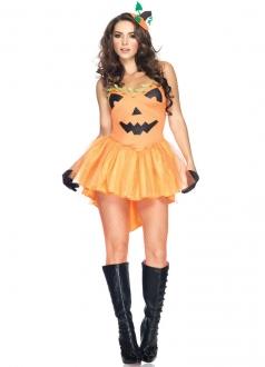 Traditional Sexy Halloween Pumpkin Princess Costume