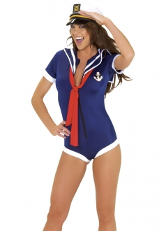 Womens Sexy Pin Up Sailor Girl Halloween Costume