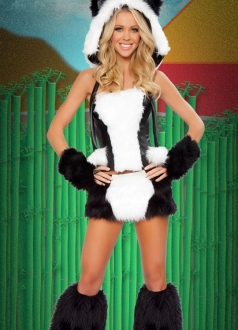 Womens Deluxe Sexy Panda Bear Costume