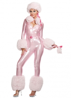 Sexy Pink Poodle Halloween Dog Costume