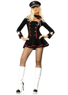 Sexy Major Mayhem Black and Red Adult Costume