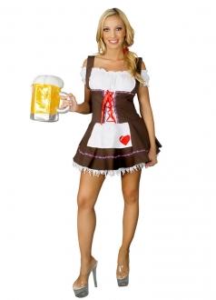 Brown Beer Girl Maiden Costume