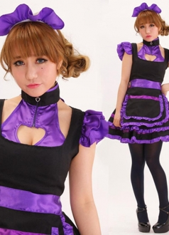 Purple Cute Barbie Maid Costume