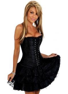 Low-cut Laced European Corset Dress