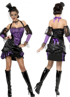 Purple Womens Halloween Sexy Circus Themed Costume