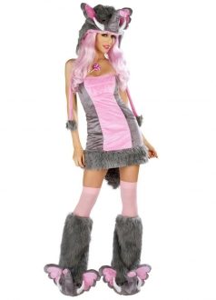Adult Deluxe Pink Elephant Warm Halloween Costume
