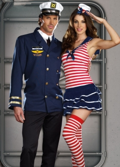Sexy Sweet Windy Sails Sailor Girl Halloween Costume
