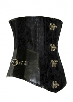 Black Gothic Corsets Twinkling Button Tie Up Skirt
