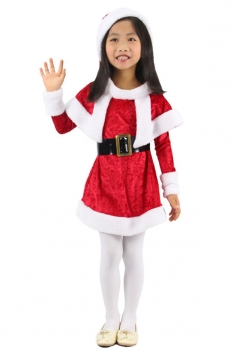 Little Girl Wraped Mini Red Santa Costume Christmas Costume
