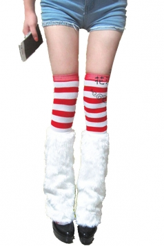 Red and White Christmas Stockings with White furry boot covers