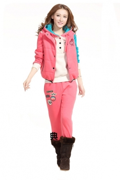 Woolen Sport Hoodie Three Pieces Suit