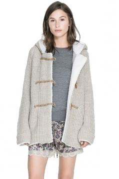 Cingulate Hooded Khaki Sweater