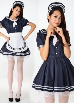 Cute Girls Sailor Halloween Costume