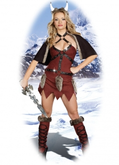Womens Sexy Viking  Warrior Halloween Costume