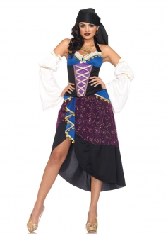 Supper Halter Splice Pirate Gipsy Halloween Costume