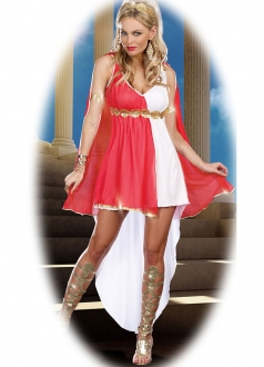 White Women Greek Goddess Halloween Costume