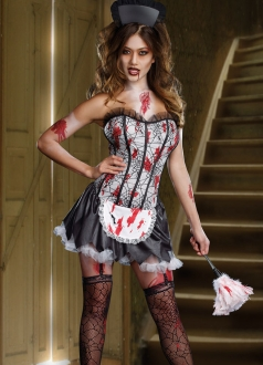 Spider Zombie Maid Halloween Costume