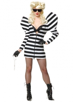 Lady Gaga Striped Gown Halloween Costume