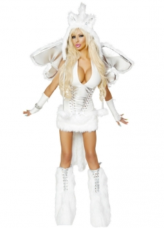 White Pegasus Wings Girl Halloween Costume