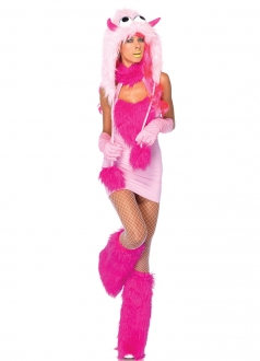 Pink Sexy Monster Halloween Costume