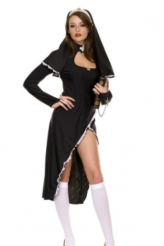 Black Sexy Nun Halloween Costume