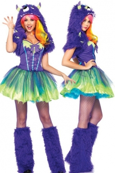 Green Scary Monster Halloween Costume