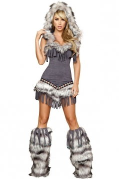 Coffee Corset Tassels Indian Halloween Costume