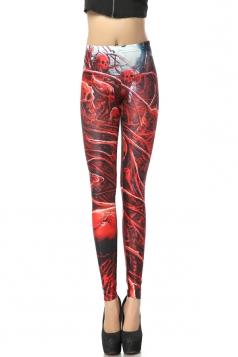 Red Sexy Bloody Skeletons Leggings